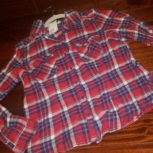 NWT H&M flannel size 14 womens